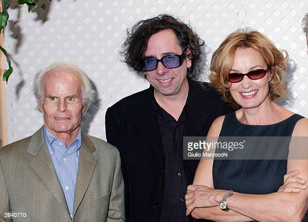 Richard D ZanuckTim Burton Jessica Lange attend 10th Annual Premiere Women in Hollywood Luncheon at the Four Season Hotel October 23 2003 in Beverly...