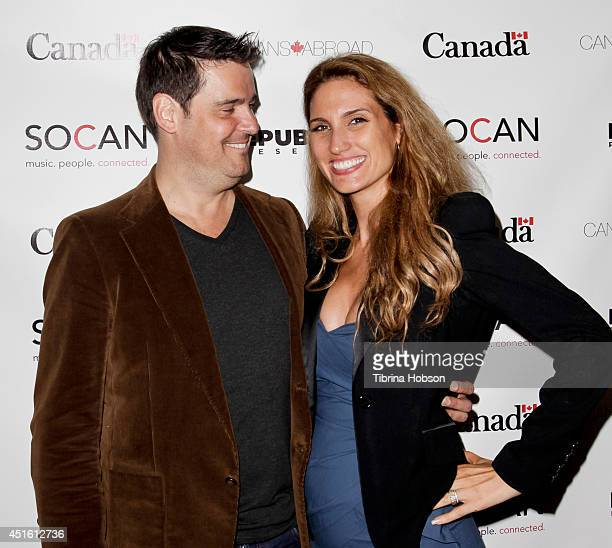 Richard D'Alessio and Lorraine D'Alessio attend the Canada Day party in LA on the Sunset Strip on July 1 2014 in West Hollywood California