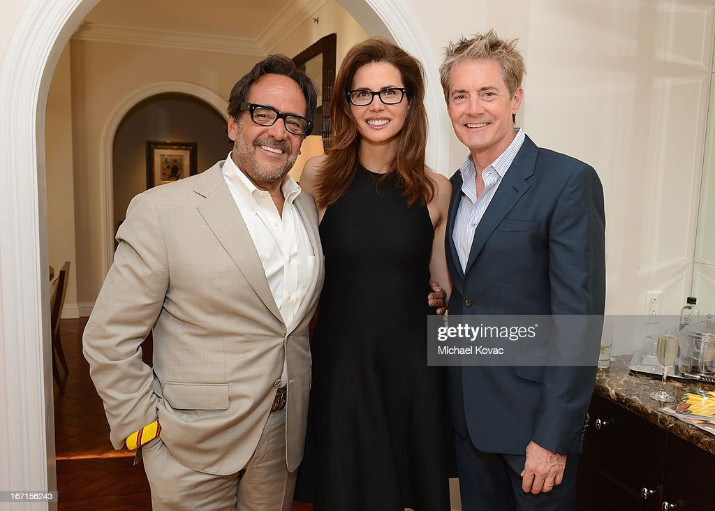 Richard David Story, Senior Vice President and Editor in Chief, Departures, Desiree Gruber and actor Kyle MacLachlan attend The American Express Publishing Luxury Summit 2013 at St. Regis Monarch Beach Resort on April 21, 2013 in Dana Point, California.
