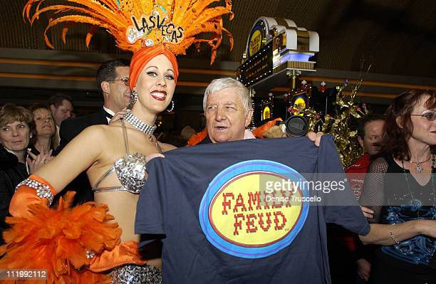Richard Dawson during Richard Dawson Launches New Family Feud Video Slots at MGM Grand Hotel in Las Vegas Nevada United States
