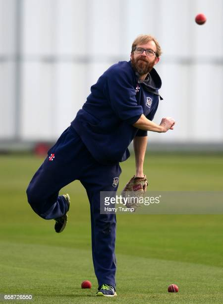 Richard Dawson Head Coach of Gloucestershire during the Pre Season match between Gloucestershire and Durham MCCU at the Brightside Ground on March 28...