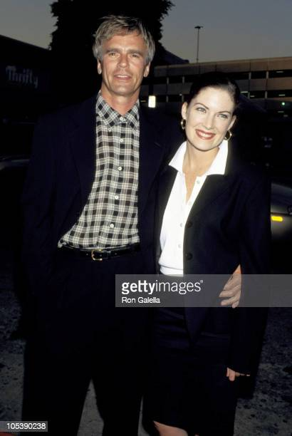 Richard Dean Anderson and Lara Flynn Boyle during Opening Night Party Grand Havana Room in Beverly Hills California United States