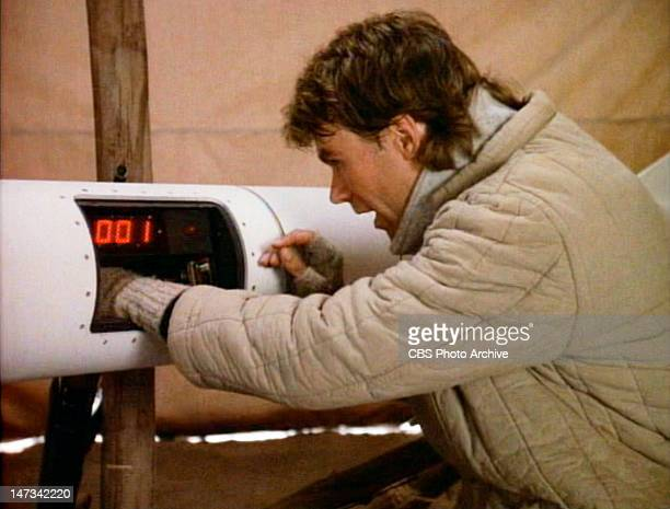 Richard Dean Anderson as MacGyver in the 'Pilot' episode of the action adventure television series MacGyver originally broadcast September 29 1985...