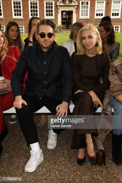 Richard Dennen and Sabine Getty attend the Erdem show during London Fashion Week September 2019 on September 16 2019 in London England
