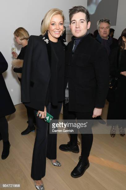 Richard Denning and Nadja Swarovski attend Atelier Swarovski 10th Anniversary Book Launch at Phillips Gallery on March 19 2018 in London England