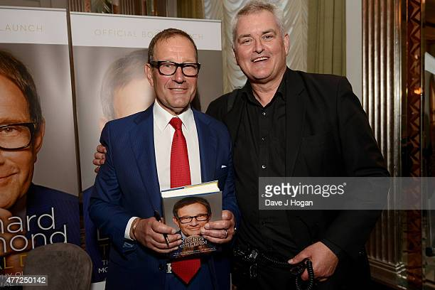 Richard Desmond and Dave Hogan attend the book launch of Richard Desmond's 'The Real Deal' at Claridge's on June 15 2015 in London England