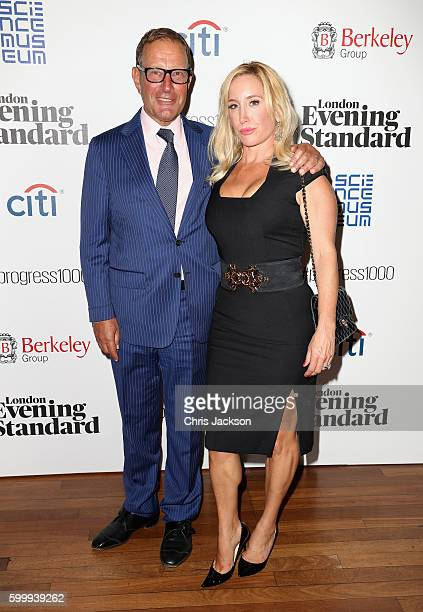 Richard Desmond and Joy Desmond attend London Evening Standard's Progress 1000 at Science Museum on September 7 2016 in London England
