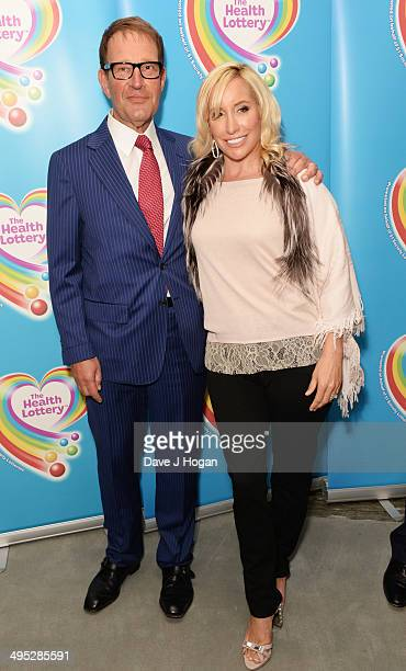 Richard Desmond and Joy Desmond attend the Health Lottery Tea Party at The Savoy on June 2 2014 in London England
