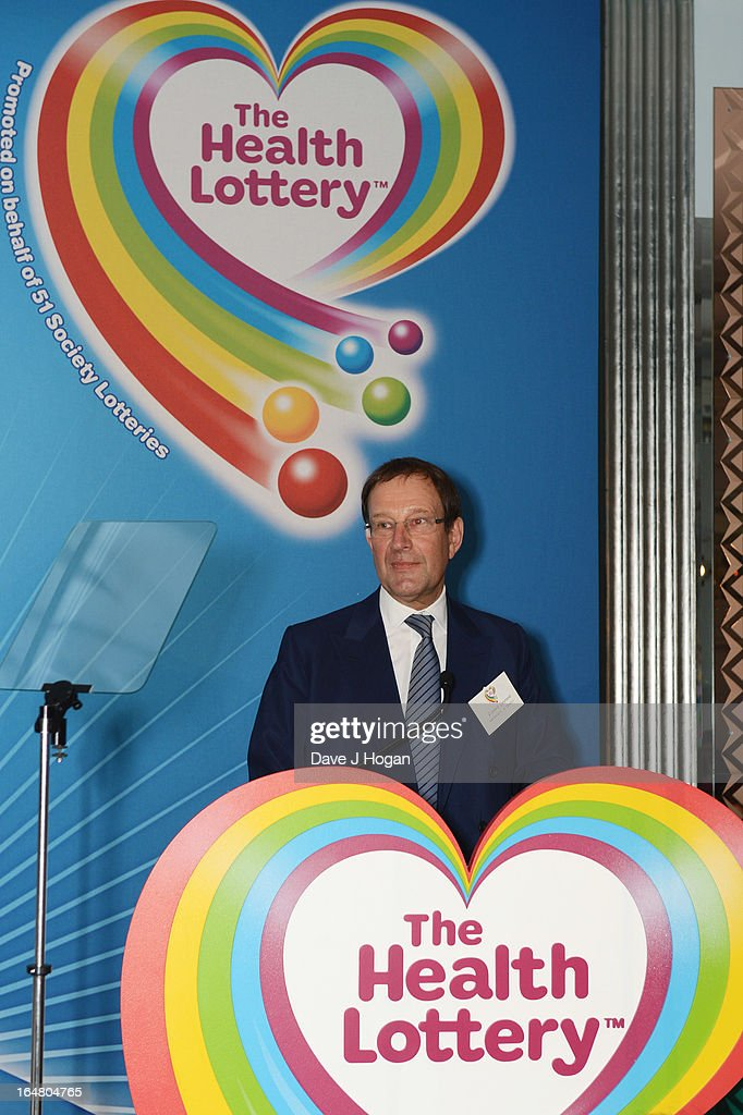 Richard Desmond attends the Health Lottery champagne tea at Claridges on March 28, 2013 in London, England.