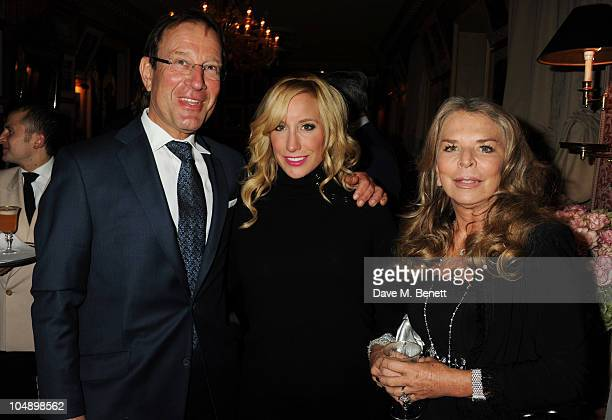 Richard Desmond Joy Canfield and Tina Green attend the 2010 Help for Heroes Auction hosted by David Bailey Dylan Jones and Sir Philip Green at...