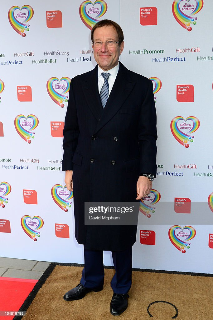 Richard Desmond sighted arriving for The Health Lottery Fundraising Event outside Claridges Hotel on March 28, 2013 in London, England.