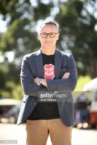 Richard Di Natale leader of the Australian Greens poses for a portrait on April 18 2019 in Melbourne Australia Richard Di Natale is a Senator and...