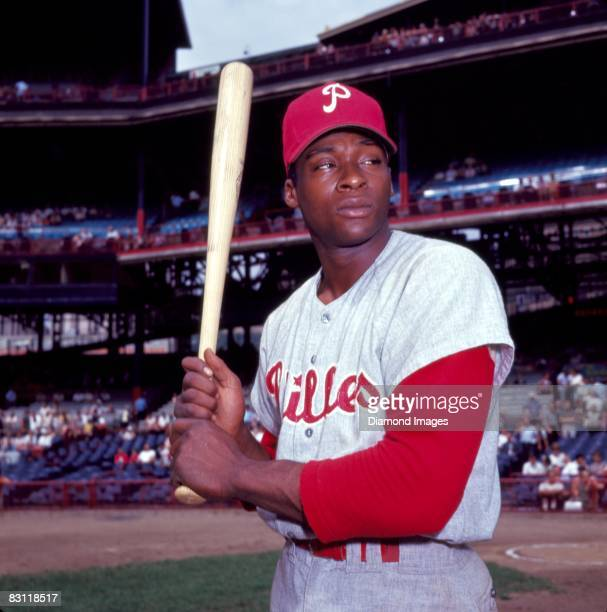 """Richard """"Dick"""" Allen of the Philadelphia Phillies poses for a portrait prior a game in 1966 against the Cincinnati Reds at Crosley Field in..."""