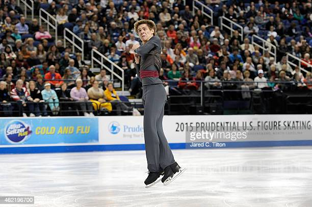 Richard Dornbush competes in the Championship Men's Free Skate Program Competition during day 4 of the 2015 Prudential US Figure Skating...