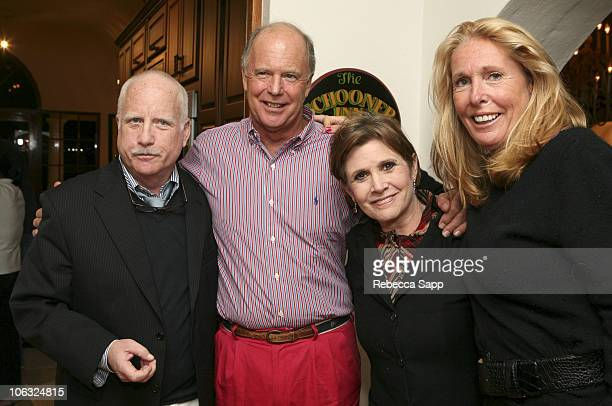 Richard Dreyfuss, Alex Cooper, Carrie Fisher and Sheilagh Cooper