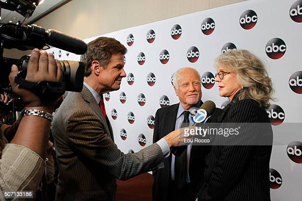 "Richard Dreyfuss and Blythe Danner walk the red carpet for the premiere of Walt Disney Television via Getty Images's primetime miniseries ""Madoff,""..."