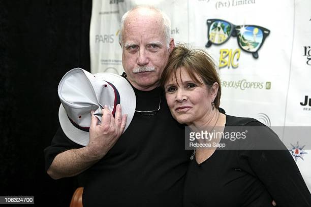 Richard Dreyfuss and Carrie Fisher during 10th Annual Bermuda International Film Festival Tales From Hollywood at Front Room in Hamilton Bermuda