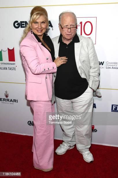 Richard Dreyfuss and Svetlana Erokhin attend the Lina Wertmuller True Italian Taste Gala Reception Dinner CoHosted By The ItalyAmerica Chamber Of...