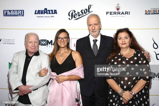 Richard Dreyfuss Genny Nevoso Giorgio Ciani and Emanuela Zaccherin attend the Lina Wertmuller True Italian Taste Gala Reception Dinner CoHosted By...