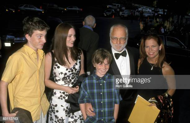 Richard Dreyfuss, Janelle Lacey, His Daughter Emily Dreyfuss and Son Benjamin Dreyfuss and Harry Dreyfuss