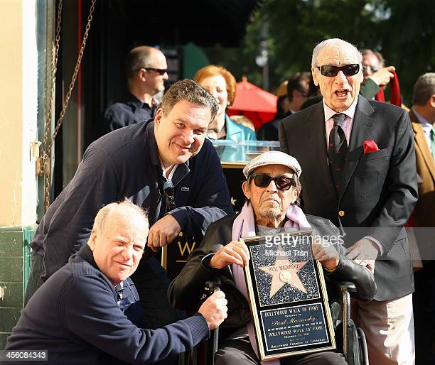 Richard Dreyfuss, Jeff Garlin, Paul Mazursky and Mel Brooks attend the ceremony honoring Paul Mazursky with a Star on The Hollywood Walk of Fame held...