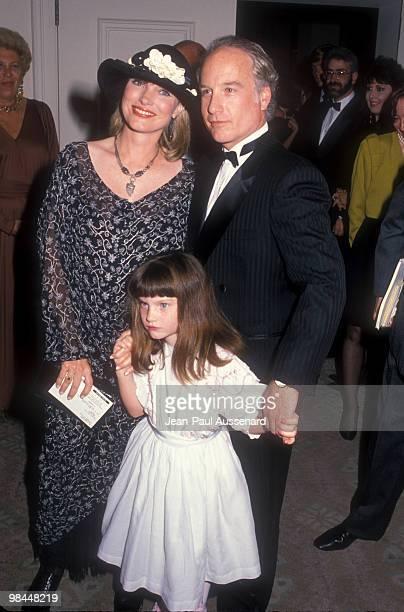 Richard Dreyfuss wife Jeramie Rain and daughter in Beverly Hills circa 1993
