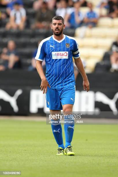 Richard Duffy of Notts County during the preseason match between Notts County and Leicester City at Meadow Lane on July 21 2018 in Nottingham England
