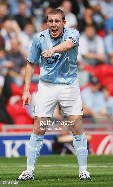 Richard Dunne of Manchester City in action during the Pre-Season Friendly match between Doncaster Rovers and Manchester City at the Keepmoat Stadium...