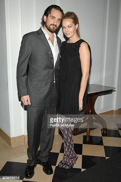 Richard DuPont and Lauren DuPont attend NEUE WINTER GALA Sponsored by GUCCI at NEUE GALERIE New York on December 11 2007 in New York City