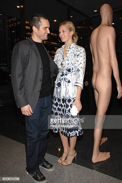 Richard Dupont and Lauren Dupont attend Opening of RICHARD DUPONT's TERMINAL STAGE at Lever House on March 13 2008 in New York City