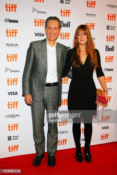 Richard E Grant and daughter Olivia Grant attend the Can You Ever Forgive Me premiere during 2018 Toronto International Film Festival at Winter...
