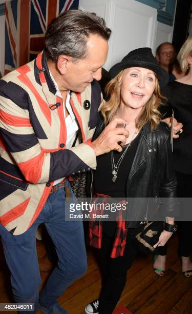"""Richard E. Grant and Lulu attend the launch of Richard E. Grant's debut fragrance """"Jack"""" hosted by GQ at Liberty on April 2, 2014 in London, England."""