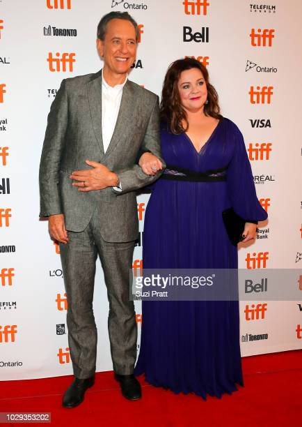 Richard E Grant and Melissa McCarthy attend the Can You Ever Forgive Me premiere during 2018 Toronto International Film Festival at Winter Garden...