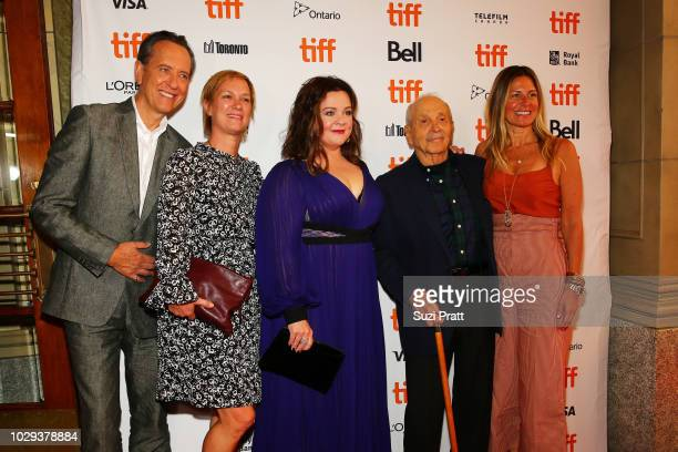 Richard E Grant Anne Carey Melissa McCarthy David Yarnell and Amy Nauiokas attend the 'Can You Ever Forgive Me' premiere during 2018 Toronto...