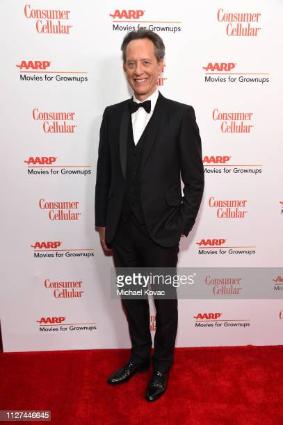 Richard E Grant attends AARP The Magazine's 18th Annual Movies for Grownups Awards at the Beverly Wilshire Four Seasons Hotel on February 04 2019 in...