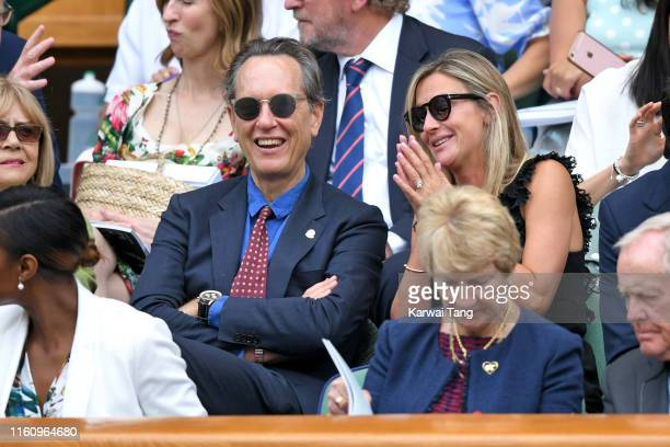Richard E Grant attends day eight of the Wimbledon Tennis Championships at All England Lawn Tennis and Croquet Club on July 09 2019 in London England