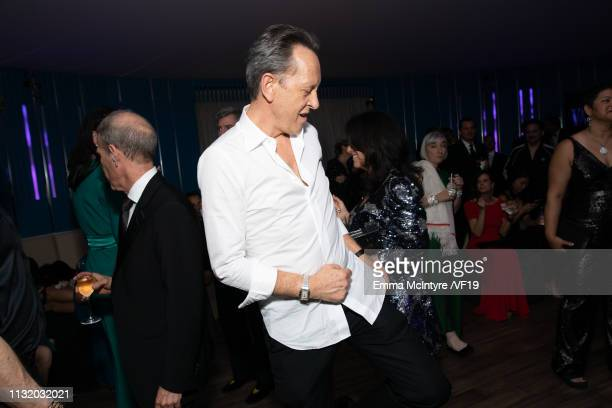 Richard E Grant attends the 2019 Vanity Fair Oscar Party hosted by Radhika Jones at Wallis Annenberg Center for the Performing Arts on February 24...