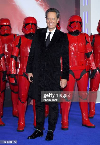 Richard E Grant attends the Star Wars The Rise of Skywalker European Premiere at Cineworld Leicester Square on December 18 2019 in London England