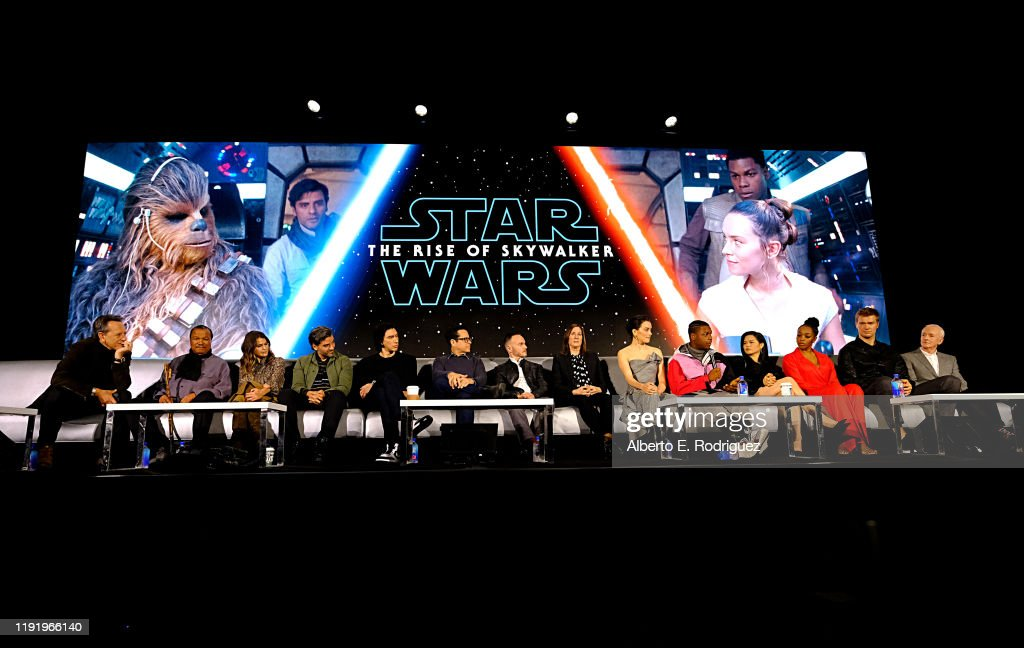 The Stars And Filmmakers Of Star Wars: The Rise Of Skywalker At The Global Press Conference : News Photo