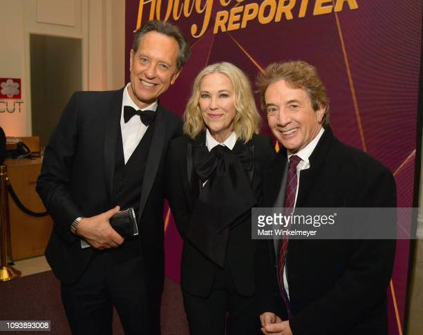 Richard E Grant Catherine O'Hara and Martin Short attend The Hollywood Reporter's 7th Annual Nominees Night presented by MercedesBenz Century Plaza...