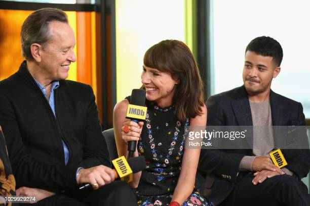 Richard E Grant Dolly Wells and Christian Navarro of 'Can You Ever Forgive Me' attends The IMDb Studio presented By Land Rover At The 2018 Toronto...