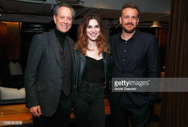 Richard E Grant Eve Lindley and Jason Segel attend IFC Dispatches From Elsewhere screening In NYC on February 27 2020 in New York City