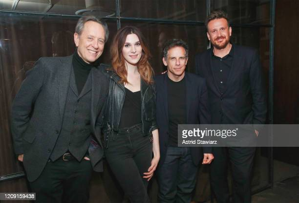 Richard E Grant Eve Lindley Ben Stiller and Jason Segel attend IFC Dispatches From Elsewhere screening In NYC on February 27 2020 in New York City