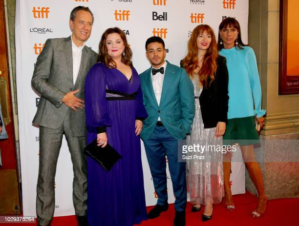 Richard E Grant Melissa McCarthy Christian Navarro Marielle Heller and Dolly Wells attend the 'Can You Ever Forgive Me' premiere during 2018 Toronto...