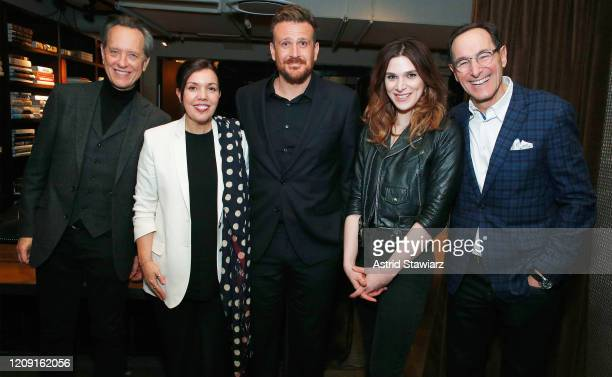 Richard E Grant President of AMC Networks Sarah Barnett Jason Segel Eve Lindley and President and CEO of AMC Networks Josh Sapan attend IFC...