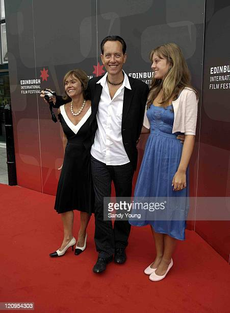 Richard E. Grant, wife Joan and daughter Olivia