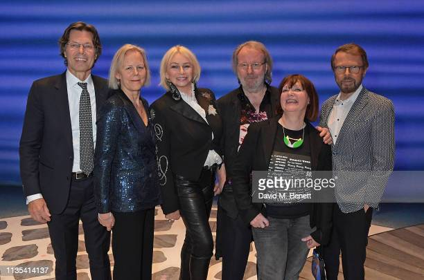 Richard East Phyllida Lloyd Judy Craymer Benny Andersson Catherine Johnson and Bjorn Ulvaeus attend the 20th anniversary performance of Mamma Mia at...