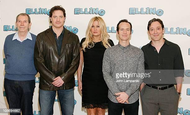 Richard Easton Brendan Fraser Jennifer Coolidge Denis O'Hare and Jeremy Shamos attend Broadway's Elling cast meet greet at Ballet Tech Rehearsal...