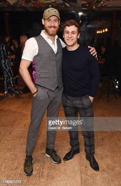 RIchard Ede and Elliott Ross attend the press night after party for Shackleton And His Stowaway at The Park Theatre on January 10 2020 in London...