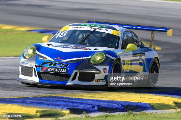 Richard Edge races his ACI Motorsports Porsche 991 through Turn 10 during Race 1 of the Porsche GT3 Cup Series on September 5, 2020 at Road...